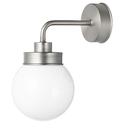 FRIHULT Wall lamp, stainless steel colour