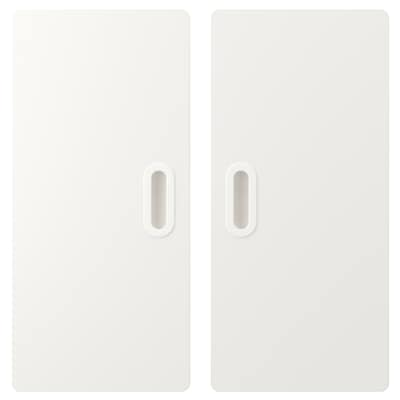 FRITIDS Door, white, 60x64 cm 2 pieces