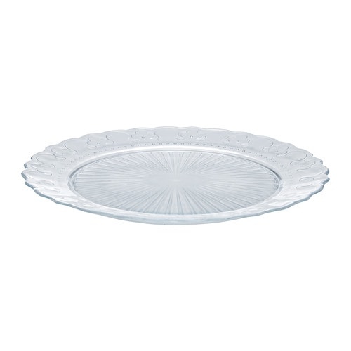 FRODIG Plate IKEA Made of tempered glass, which makes the plate durable and extra resistant to impact.