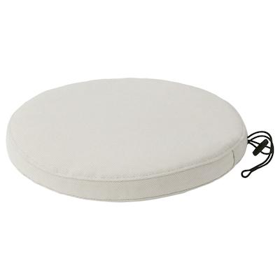 FRÖSÖN Cover for chair cushion, outdoor beige, 35 cm