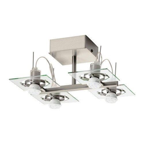 FUGA Ceiling spotlight with 4 spots IKEA Adjustable spotlights.