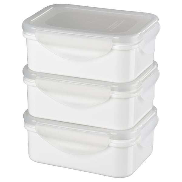 FULLASTAD Lunch box, white, 13x10x5 cm