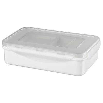 FULLASTAD Lunch box, white, 20x13x5 cm