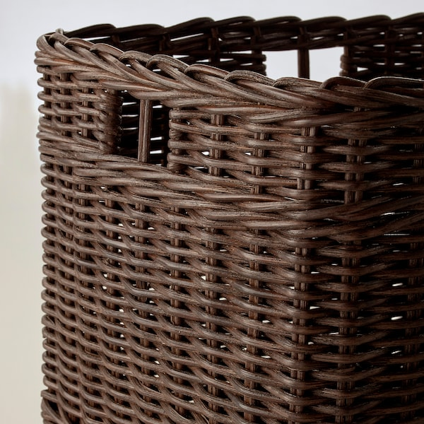 GABBIG Basket, dark brown, 29x38x25 cm