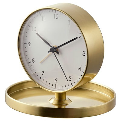 GÄNGA Alarm clock, brass-colour, 13 cm