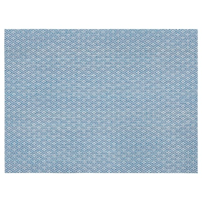GALLRA Place mat, blue/patterned, 45x33 cm