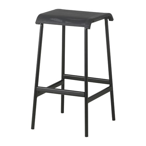 GARPEN Bar stool IKEA Rustproof aluminium frame; both sturdy and lightweight.  The materials in this outdoor furniture require no maintenance.