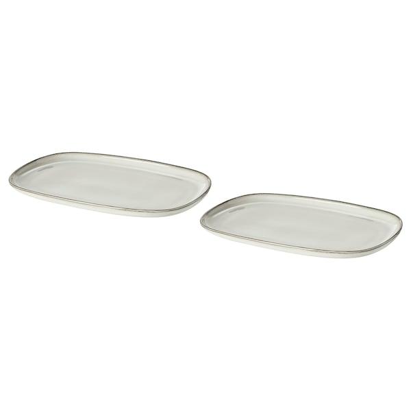 GLADELIG Plate, grey, 20x13 cm