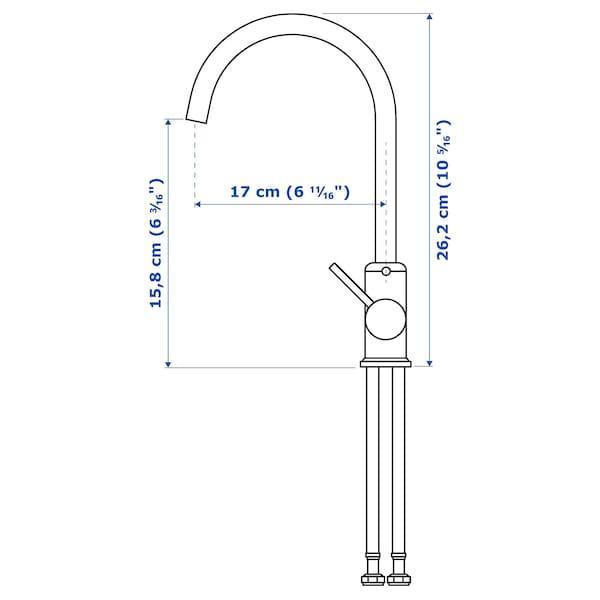 GLYPEN Kitchen mixer tap, stainless steel effect