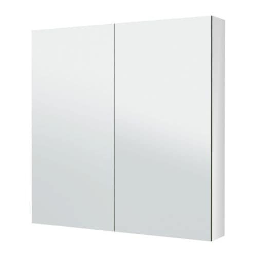 Godmorgon mirror cabinet with 2 doors 100x14x96 cm ikea for Ikea godmorgon meuble mural