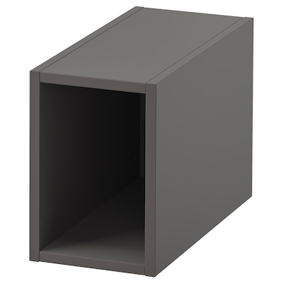 GODMORGON Open cabinet, Gillburen dark grey, 20x45x29 cm