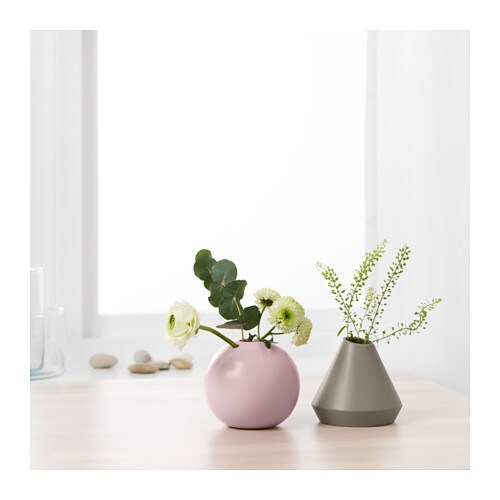 GRADVIS Vase, set of 2 IKEA Use the vases with flowers or alone, as beautiful objects in their own right.
