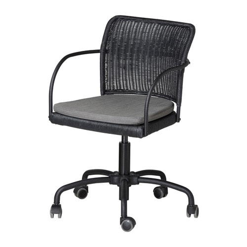 GREGOR Swivel chair IKEA Height adjustable for a comfortable sitting posture.  Rubber-coated castors; run smoothly on any type of floor.