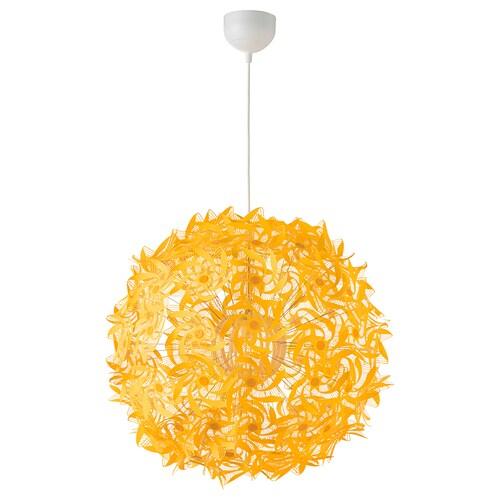 GRIMSÅS pendant lamp yellow 8.6 W 55 cm 1.4 m