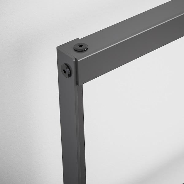 GRIMSBU Bed frame, grey/Luröy, 150x200 cm