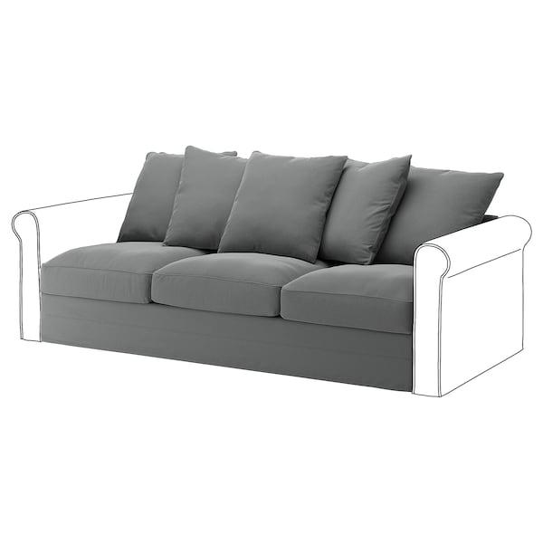 GRÖNLID 3-seat section, Ljungen medium grey