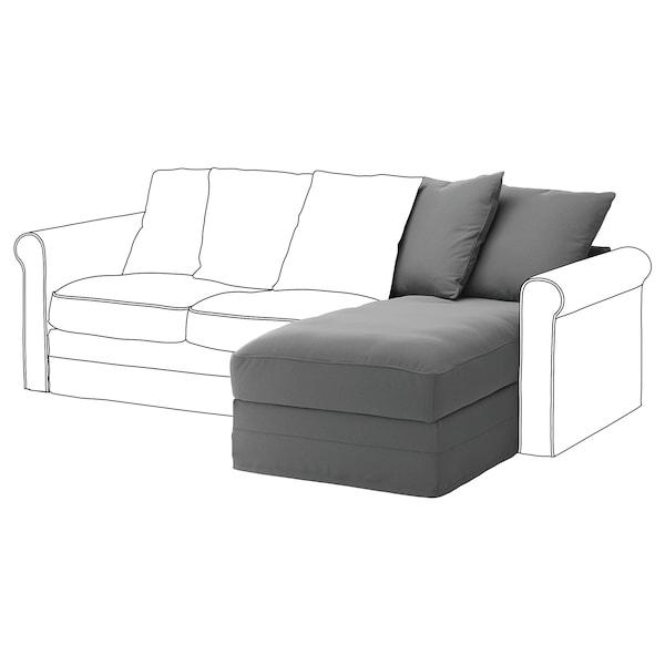 GRÖNLID Chaise longue section, Ljungen medium grey