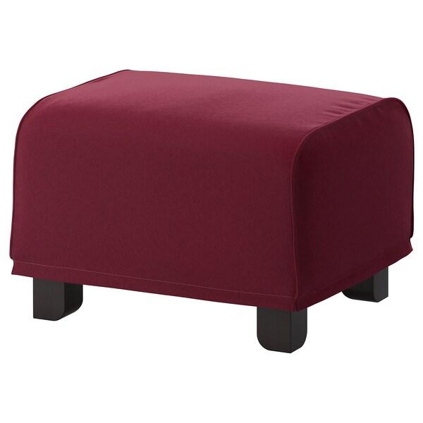 GRÖNLID footstool Ljungen dark red 57 cm 47 cm 38 cm