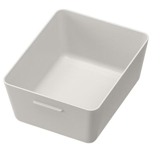 GRUNDVATTNET box grey 16.8 cm 13.7 cm 7.8 cm