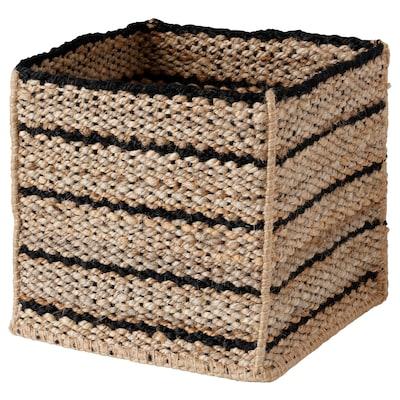 GRUSHARPA Basket, handmade natural, 30x30x30 cm
