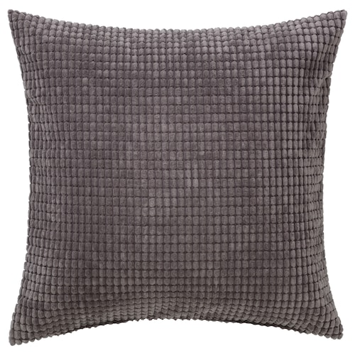 GULLKLOCKA cushion cover grey 50 cm 50 cm