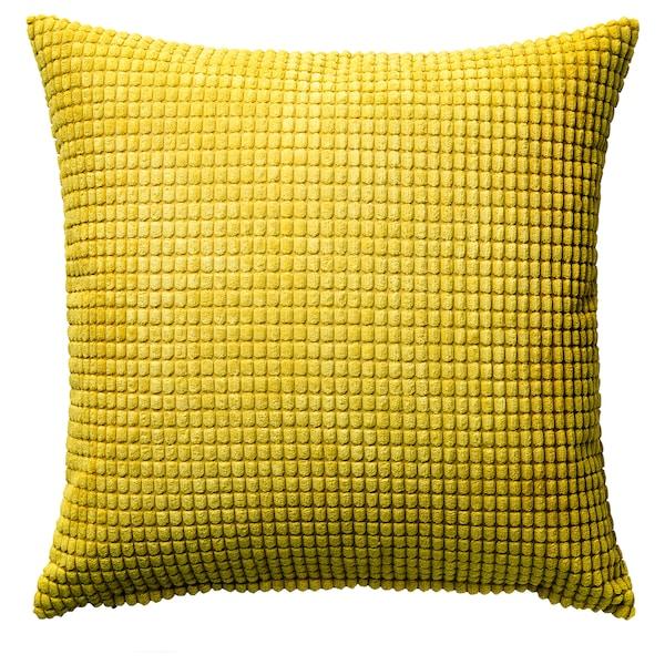 GULLKLOCKA Cushion cover, yellow, 50x50 cm