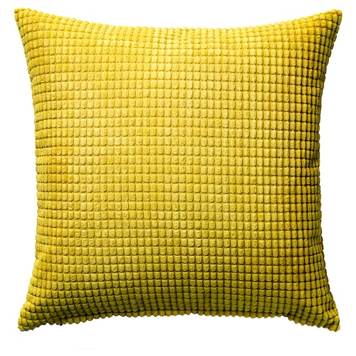 GULLKLOCKA cushion cover yellow 50 cm 50 cm