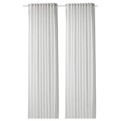 GUNNLAUG Sound absorbing curtain, white, 145x250 cm
