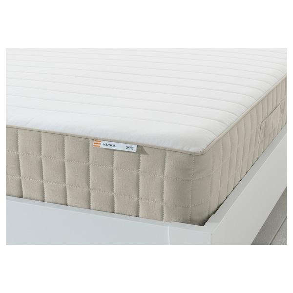 HAFSLO Sprung mattress, firm/beige, 90x200 cm