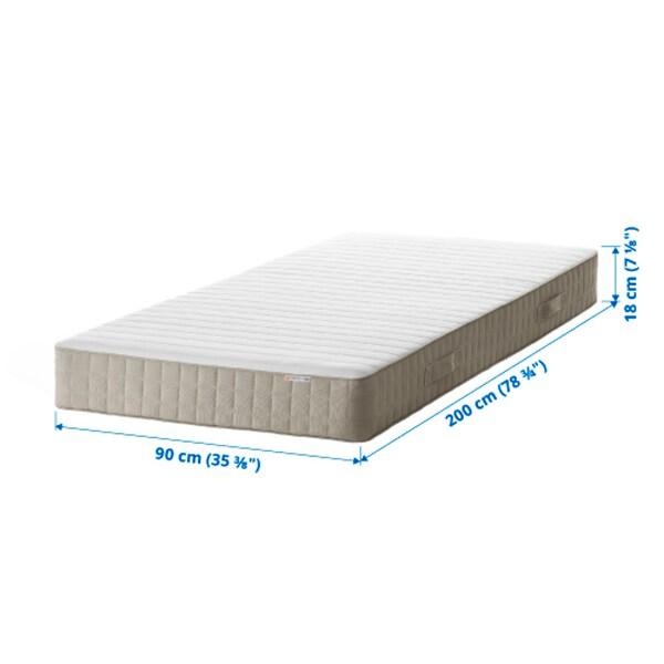 HAFSLO Sprung mattress, firm/beige, 90x200 cm