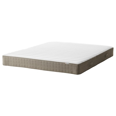 HAMARVIK Sprung mattress, firm/dark beige, 150x200 cm