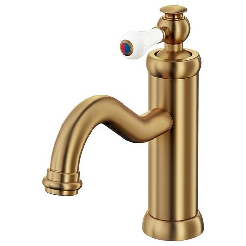 HAMNSKÄR wash-basin mixer tap with strainer brass-colour 19 cm