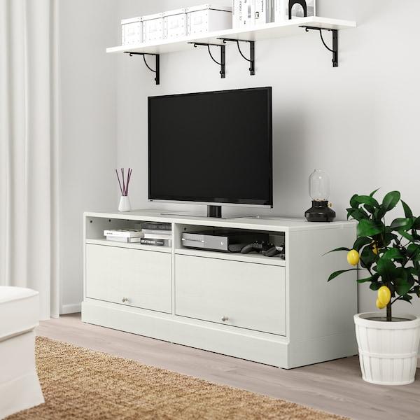 HAVSTA TV bench with plinth, white, 160x62x47 cm