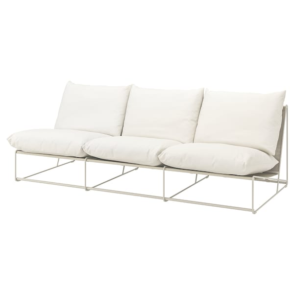 HAVSTEN 3-seat sofa, in/outdoor, without armrests/beige, 245x94x90 cm
