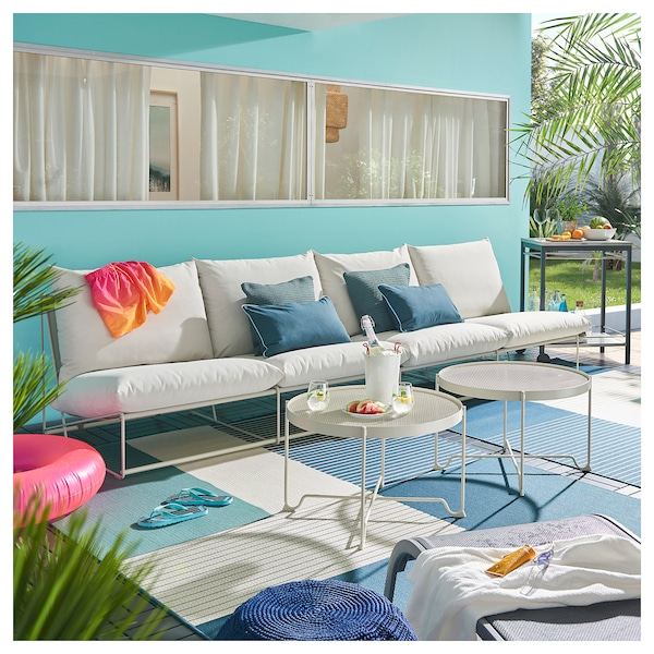 HAVSTEN 4-seat sofa, in/outdoor, without armrests/beige, 326x94x90 cm