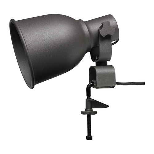 HEKTAR Wall/clamp spotlight IKEA The lamp has got double function - you can use it as a clamp spotlight or assemble it on the wall as a wall lamp.