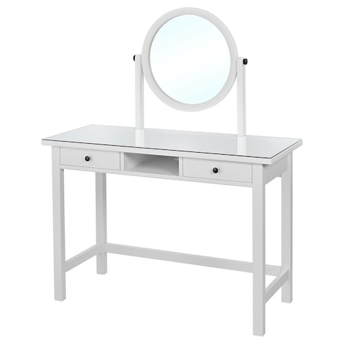 HEMNES dressing table with mirror white 110 cm 45 cm 134 cm