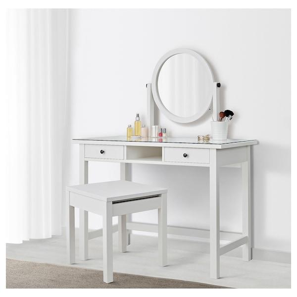 HEMNES dressing table with mirror white 110 cm 45 cm 134 cm