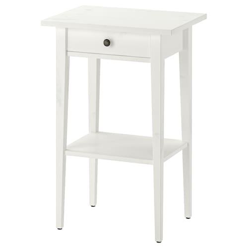 HEMNES bedside table white stain 46 cm 35 cm 70 cm 23 cm