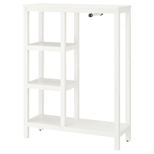 HEMNES open wardrobe white stained 99 cm 37 cm 130 cm