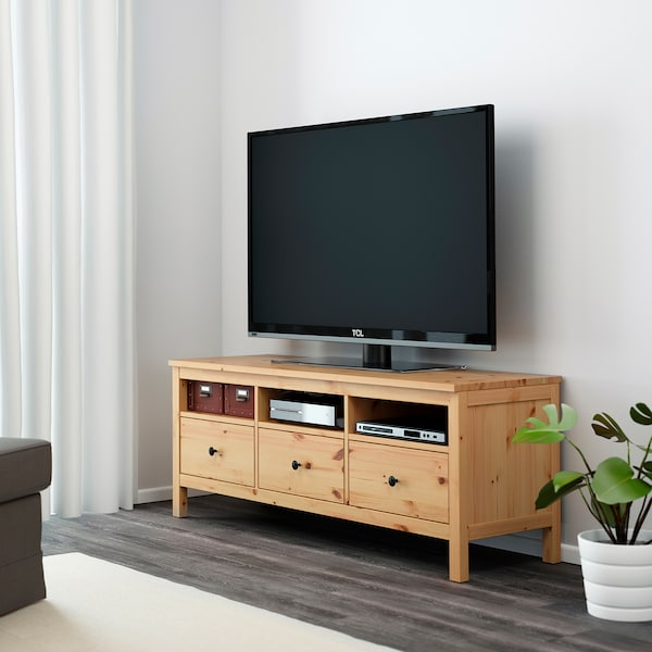 HEMNES TV bench, light brown, 148x47x57 cm