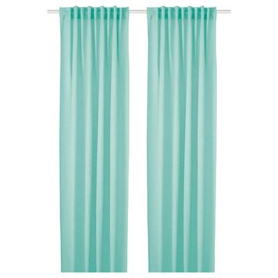 HILJA Curtains, 1 pair, turquoise, 145x250 cm