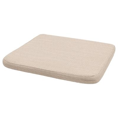 HILLARED Chair pad, beige, 36x36x3.0 cm