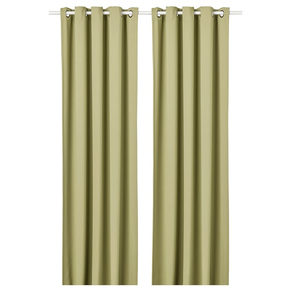 IKEA HILLEBORG Room darkening curtains, 1 pair
