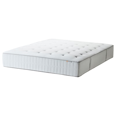 HOKKÅSEN Pocket sprung mattress, extra firm/white, 150x200 cm