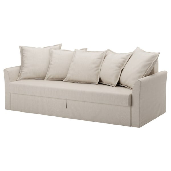 HOLMSUND Three-seat sofa-bed cover - Nordvalla beige - IKEA