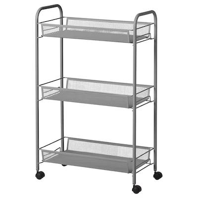 HORNAVAN Trolley, grey, 26x48x77 cm