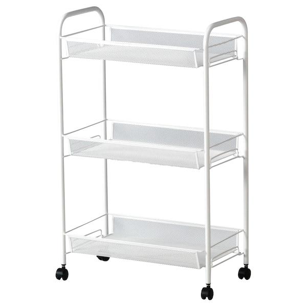 HORNAVAN Trolley, white, 26x48x77 cm