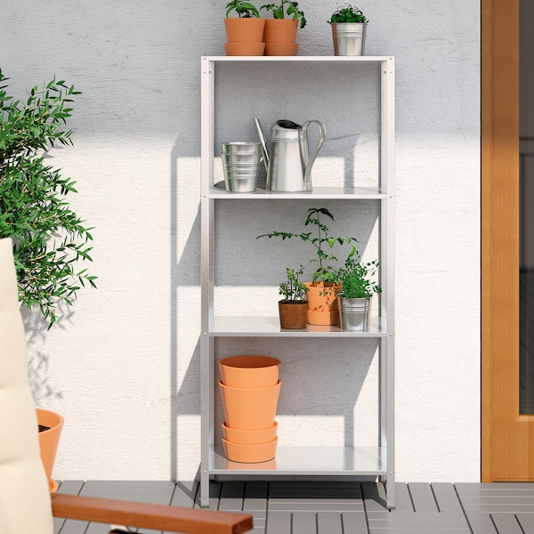 HYLLIS Shelving unit, in/outdoor, 60x27x140 cm