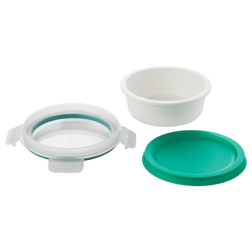 IKEA 365+ lunch box with dry food compartment round 5 cm 14 cm 450 ml